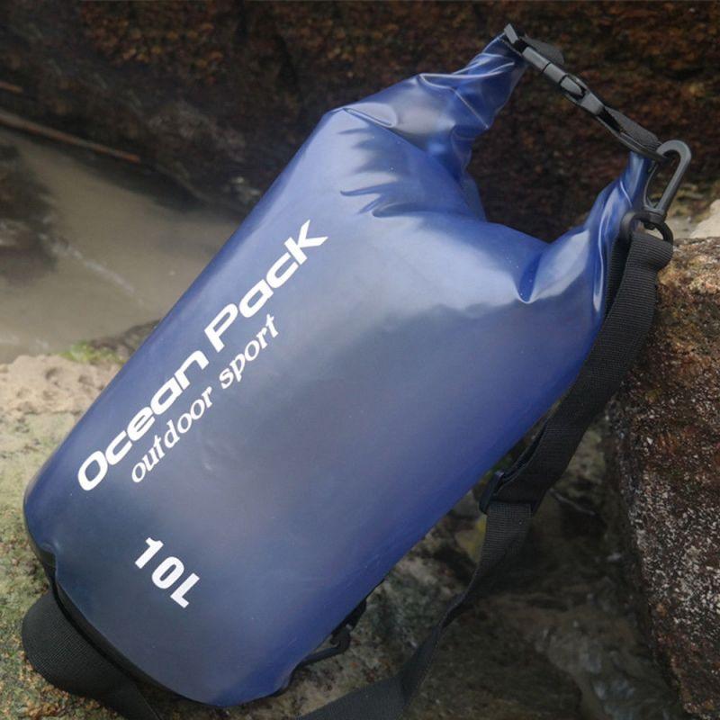 Водонепроницаемый мешок-рюкзак Ocean Pack Outdoor Sport 10 л (цвет синий)