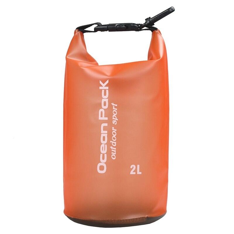 Водонепроницаемый мешок Ocean Pack Outdoor Sport 2 л (цвет оранжевый)