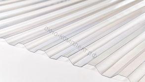 Профилированный монолитный поликарбонат 1,3мм 1,05*2м. Трапеция , прозрачный