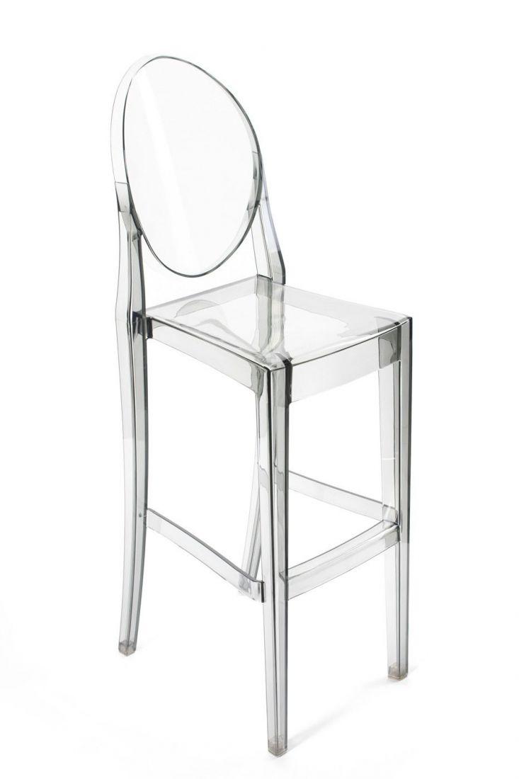 Барный стул Victoria Ghost прозрачный серый