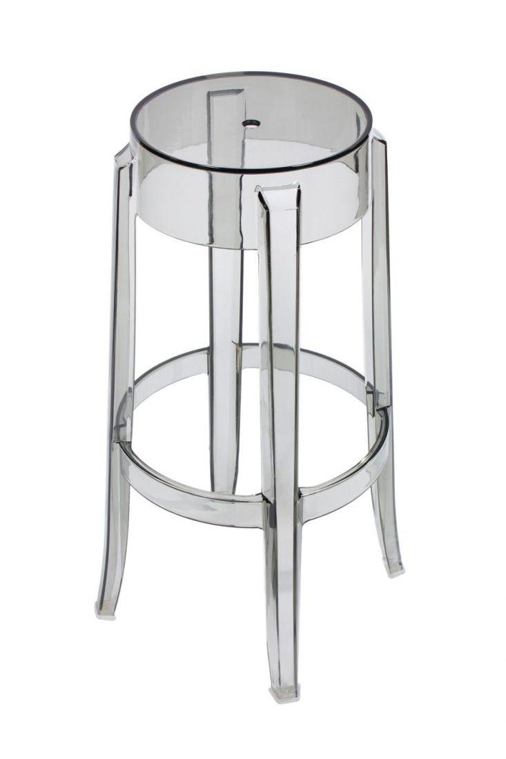 Барный стул Charles Ghost серый