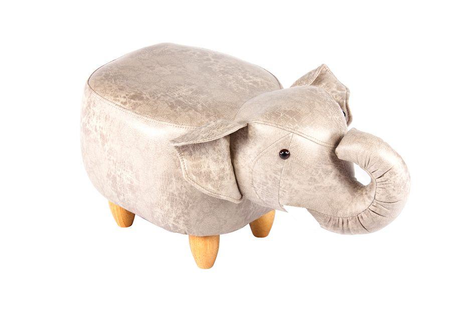 Пуф Слон светло-серый