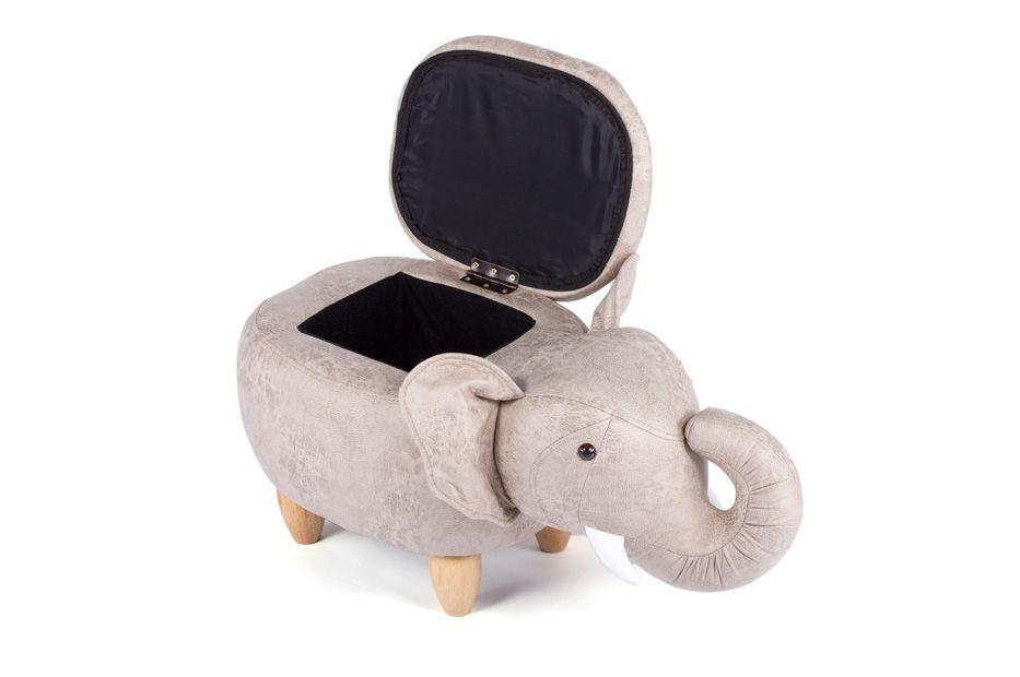 Пуф Слон с отсеком для хранения французский  серый