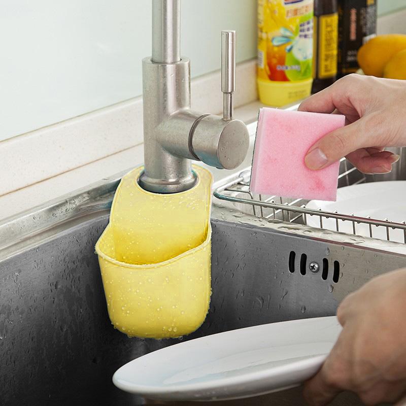 Подвесной Карман Для Раковины Silicone Sink Top Hanger, Цвет Жёлтый