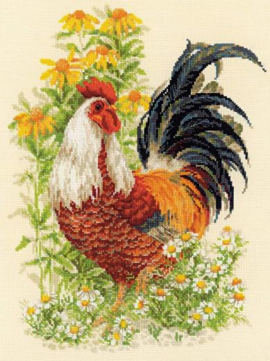 Набор для вышивания крестом Петух №1479 фирма Риолис