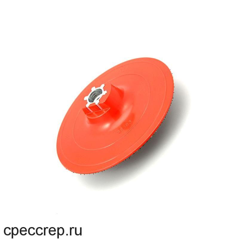 Оправка для шлифовальных кругов 125мм на липучке, жёсткая, М14