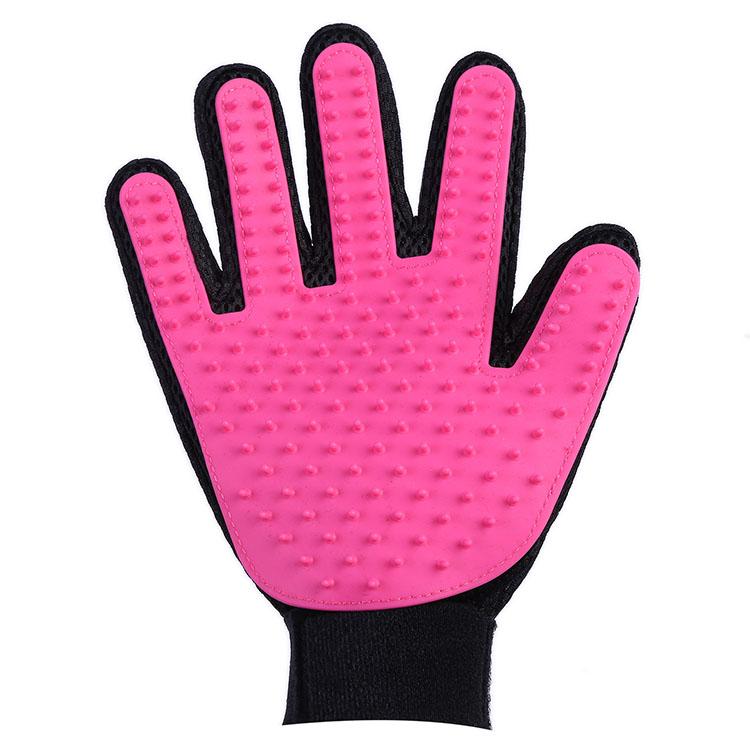 Перчатка Для Вычёсывания Шерсти True Touch, Цвет Розовый