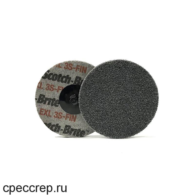 Быстросъёмный нетканый прессованный круг ROXPRO 75х6мм, 3S, Fine