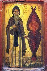 Икона Макарий Великий преподобный