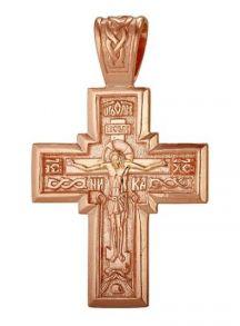 Крупный позолоченный православный крест (арт. 788090)