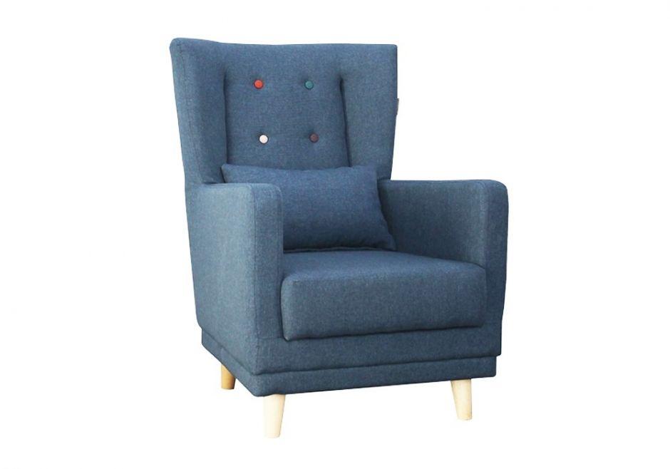 Кресло Клементина с цветными пуговицами