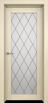 Межкомнатная дверь L 2 стекло Ромб