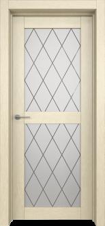 Межкомнатная дверь L 4 стекло Ромб