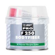 """HB Body Шпатлевка со стекловолокном PRO F250 FIBER, название цвета """"Зеленый"""", объем 1,5кг."""
