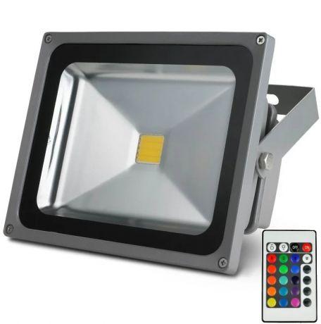 Прожектор светодиодный уличный Led 30 Вт Rgb 220 Вольт IP65