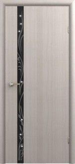 Межкомнатная дверь Стиль 1 с худ. рис. со стразами