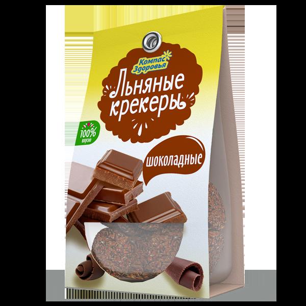 Льняные крекеры шоколад
