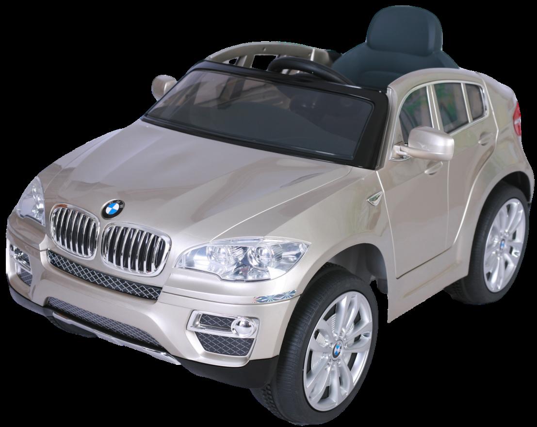 Электромобиль JJ258 BMW X6 (лицензия, 12V, металлик, EVA, экокожа) серебристый