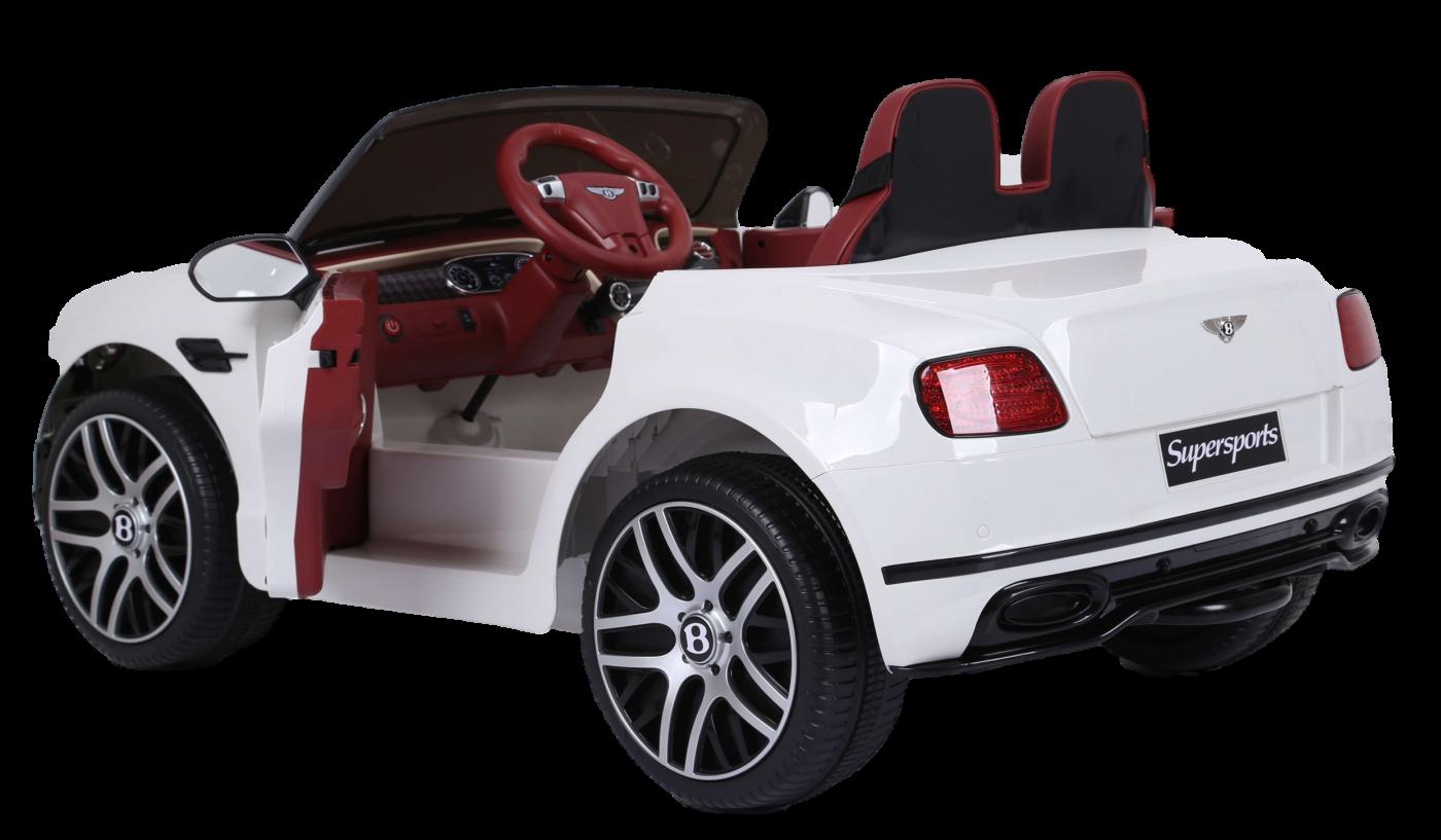 Детский электромобиль (2020) JE1155 (6V, экокожа, EVA) Белый