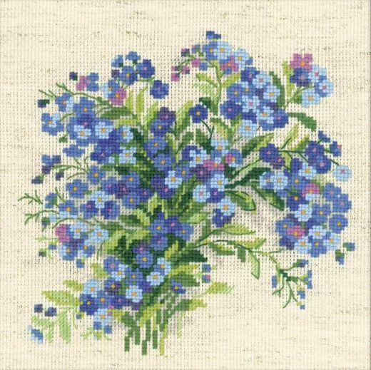 Набор для вышивания крестом Летние незабудки №1496 фирма Риолис