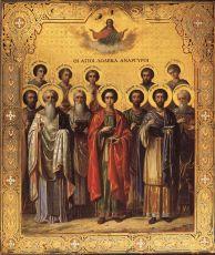 Икона Собор святых целителей