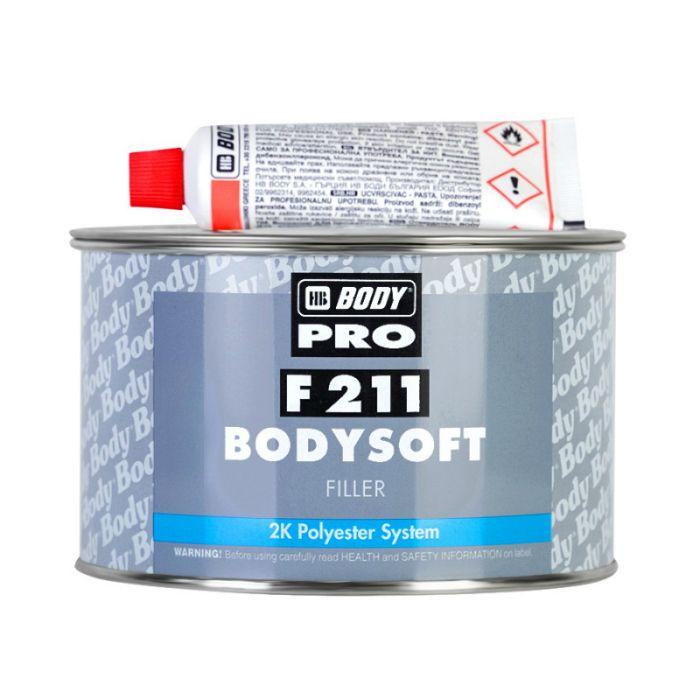 "HB Body Soft Шпатлевка BODY PRO F211 SOFT наполняющая, название цвета ""Светло-желтый"", объем 3кг."