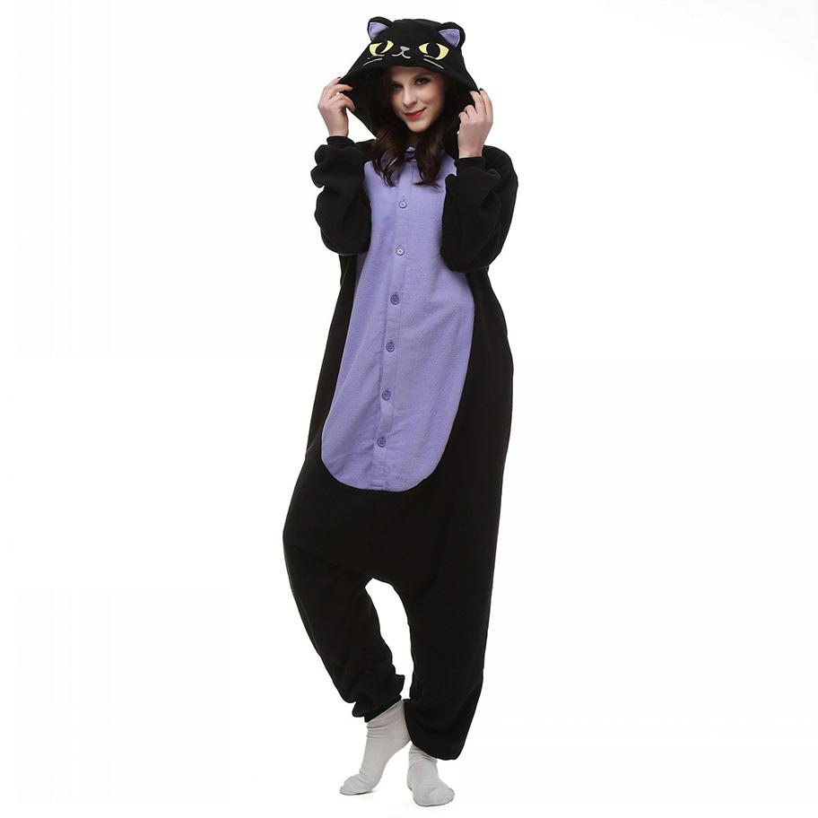 Пижама Кигуруми Кошка Черная