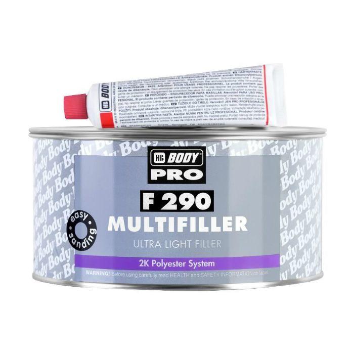 "HB Body Шпатлевка 290 Ultra Light Multifille универсальная, название цвета ""Бежевый"", объем 200мл."