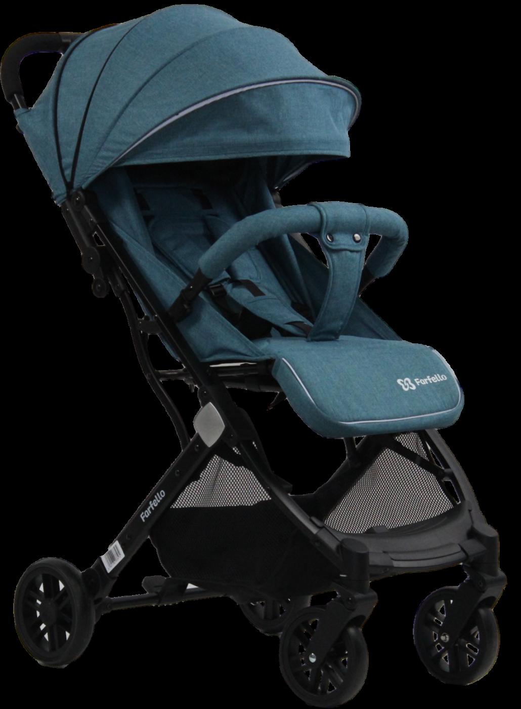Коляска детская прогулочная Farfello Comfy Go Aqua/темно-бирюзовый