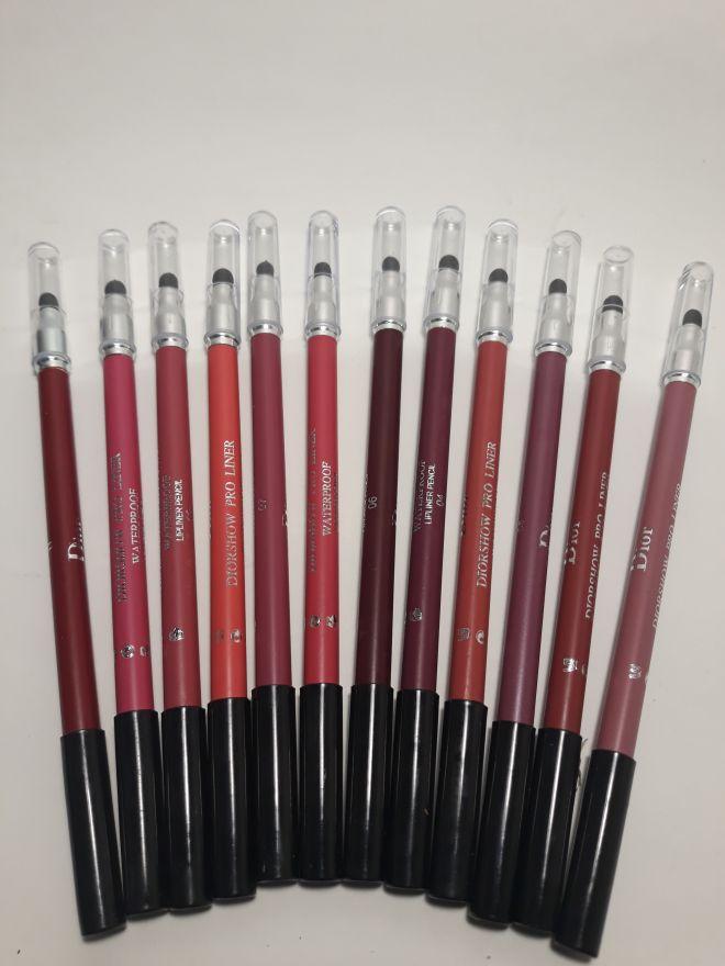 Набор карандашей для губ DIOR, 12 шт