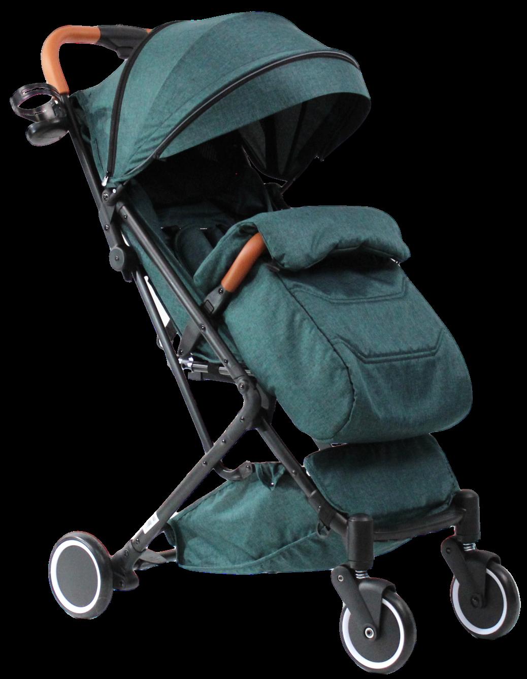 Коляска детская прогулочная COSTA Daisy  Aqua-Blue/зелёный