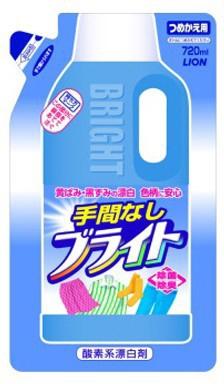 """LION Bright Отбеливатель для деликатных тканей  """"Яркость"""", запасной блок, 720 мл"""