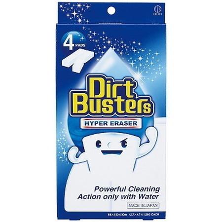 "KOKUBO Губка меламиновая ""Dirt busters"" для сложных загрязнений, р-р 68х120х30мм, 4шт"
