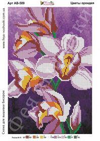 АВ-589 Фея Вышивки. Цветы Орхидеи. А4 (набор 650 рублей)