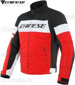 Мотокуртка Dainese Saetta D-Dry, Черно-бело-красная
