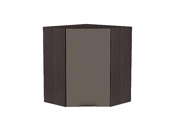 Шкаф верхний угловой Терра ВУ590 (Смоки софт)