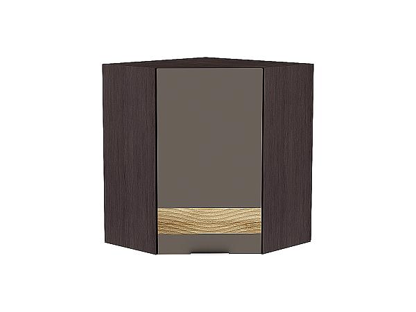 Шкаф верхний угловой Терра ВУ599 D (Смоки софт)