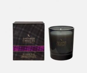 """Большая шотландская ароматическая свеча «Ae Fond Kiss Нежный поцелуй"""" в оригинальном стеклянном бокале. AE FOND KISS WHISKY GOBLET"""