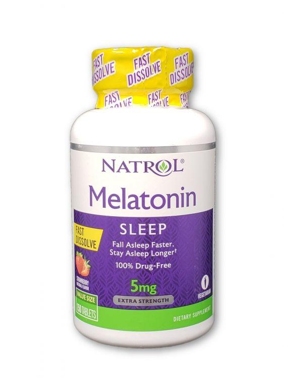 Мелатонин Natrol Melatonin 5 mg Fast Dissolve (90 таблеток) клубника