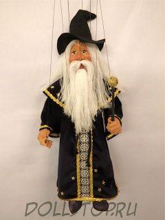 Чешская кукла-марионетка Чародей Звездочет - ČARODĚJ HVĚZDÁŘ (Чехия, Praha, Hand Made, авторы  Ивета и Павел Новотные)