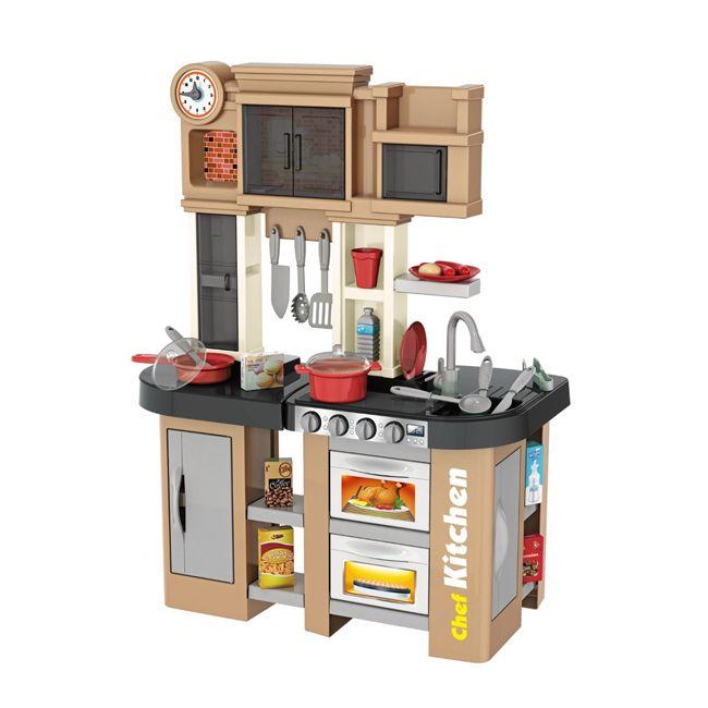 """922-102 Детская кухня игровая с буфетом, со светом,с водичкой Talented Chef Kitchen """"Капучино"""""""
