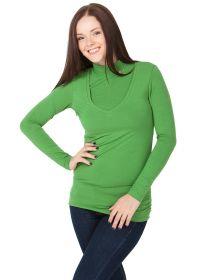 """Водолазка """"Универсал"""" для беременных и кормящих, зеленый!"""