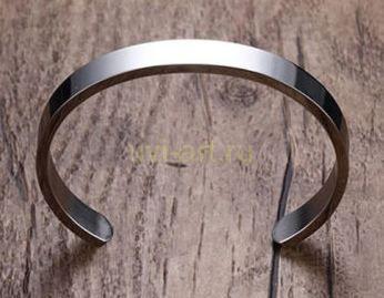 Стальной браслет для гравировки (арт. 800253)