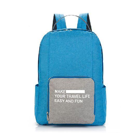 Складной Туристический Рюкзак New Folding Travel Bag Backpack 20, Цвет Голубой