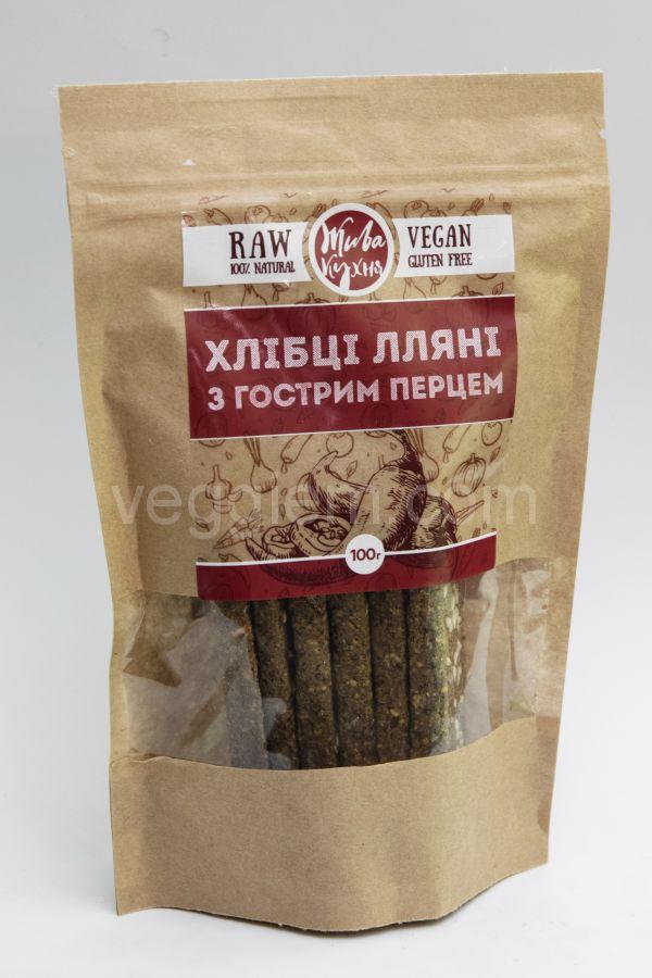 Сыроедческие сухарики «Живая Кухня»  с Острым перцем (100 грамм)