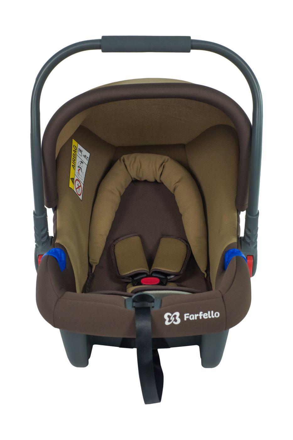 Автокресло детское к коляске Aimile KS-2150/a бежево-коричневый / brown, KS-2150/ab