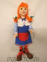 Кукла-марионетка Пеппи Длинный чулок -  PIPPI DLOUHÁ PUNČOCHA  (Чехия, Praha, Hand Made, авторы  Ивета и Павел Новотные)