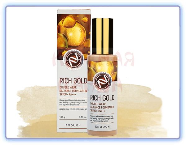 Тональный крем с золотом Enough Rich Gold Double Wear Radiance Foundation SPF50+ PA+++