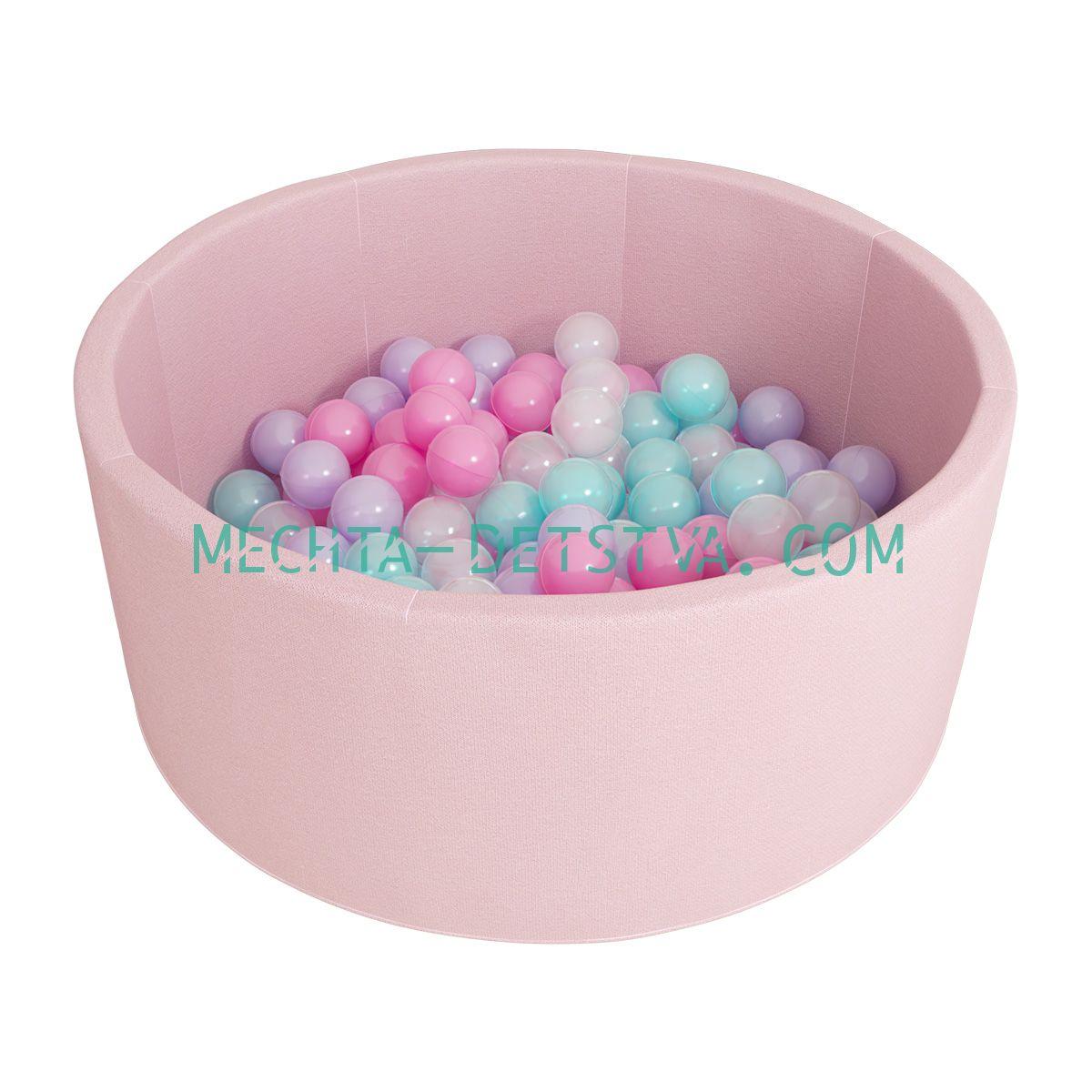 "Сухой бассейн Romana ""Airpool"" ДМФ-МК-02.53.01 (розовый с розовыми шариками)"