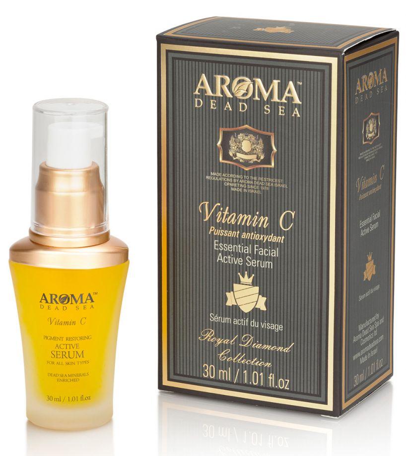Активный серум против старения для лица и шеи с витамином C, Aroma Dead Sea (Арома Дэд Си) 30 мл